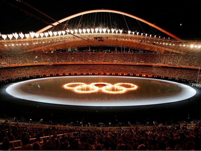Nicolay sports + entertainment events Opening Ceremony Athens 2004 Fire Rings