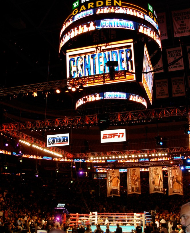 The Contender TV show live production Nicolay Sports + entertainment fighting