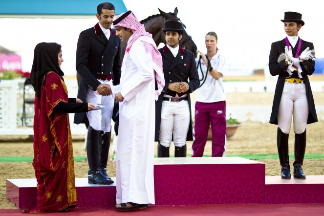 Nicolay sports + entertainment Arab Games day 3 equestrian medals ceremony