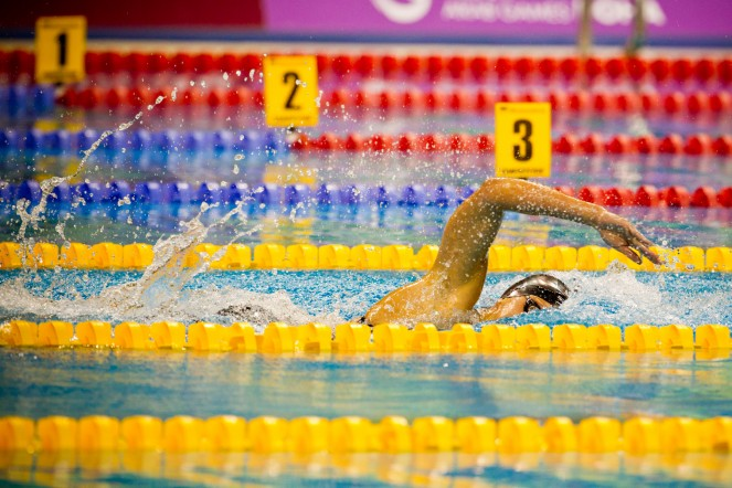 Nicolay sports + entertainment Arab Games day 6 productions swimming
