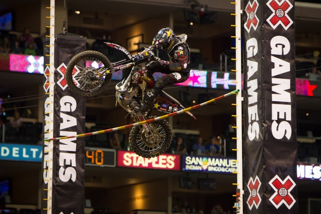 Brian Deegan jumping at X Games Los Angeles Nicolay Sports